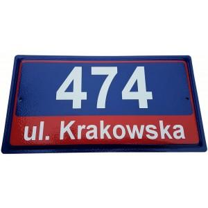 Tabliczka adresowa stalowa tłoczona - waraszawska