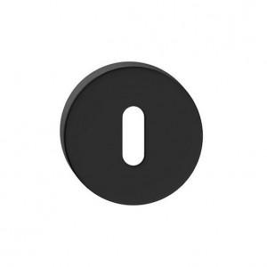 Szyld okrągły Czarny Mat R na klucz