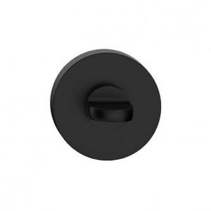Szyld okrągły Czarny Mat R blokada WC