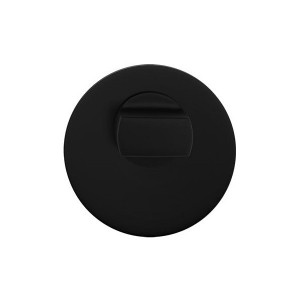 Szyld okrągły Czarny Mat 3S blokada WC