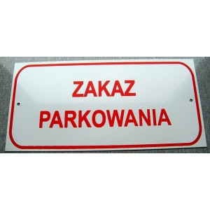 TZ zakaz parkowania